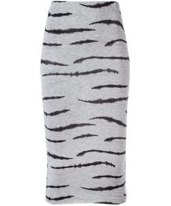 Zoe Karssen | Zebra Print Fitted Skirt Medium Lyocell/Spandex/Elastane