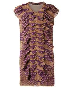 Gig | Ruffled Dress P Polyamide/Polyester/Viscose