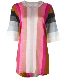 Marco De Vincenzo | Striped Three-Quarter Sleeve Top Size 48