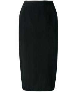 Rick Owens | Gathe Detail Pencil Skirt 44 Acetate/Silk