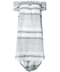 Malia Mills | Striped Beach Dress Large Cotton/Linen/Flax/Viscose/Polyester