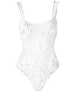 AMIR SLAMA | Crochet Swimsuit Medium Elastodiene