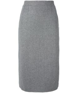 Olympia Le-Tan | Pencil Skirt With Pleated Back
