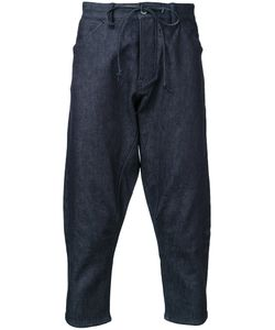 KAZUYUKI KUMAGAI | Cropped Denim Trousers 2 Cotton/Polyurethane