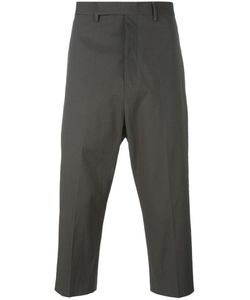 Rick Owens | Drop-Crotch Cropped Trousers 46 Cotton/Rubber/Cupro