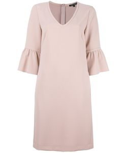 Luisa Cerano | Draped Sleeves Shift Dress 36 Polyester/Polyurethane