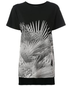 Diesel | Leaf Print T-Shirt Small Cotton
