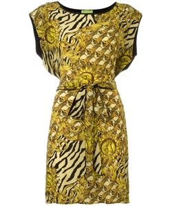 Versace Jeans | Printed Belted Dress 42