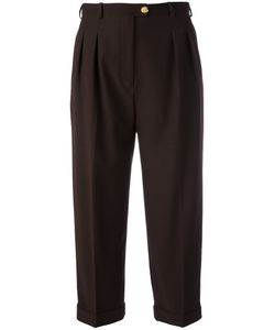 Chanel Vintage | Cropped Pleat Front Trousers Size
