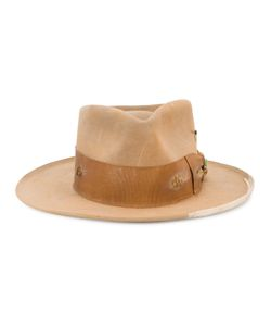 NICK FOUQUET | Distressed Fedora Hat Size Large