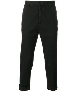 Love Moschino | Cropped Chino Trousers 46 Cotton/Spandex/Elastane