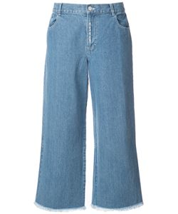Sandy Liang | Wide Leg Raw Edge Jeans Women