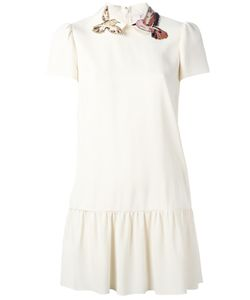 Red Valentino | Bird Collar Dress 38 Acetate/Viscose/Polyester/Silk