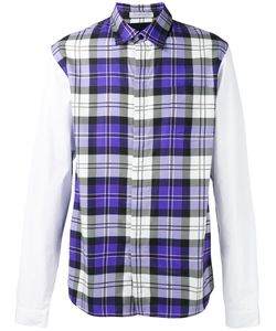 J.W. Anderson   J.W.Anderson Panelled Checked Shirt Size 50