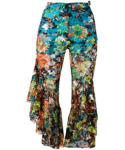 Marques Almeida | Marquesalmeida Cropped Fla Trousers 10 Polyester/Polyurethane/Silk