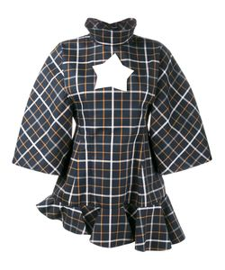 A.W.A.K.E. | Oversized Checked Top 42 Cotton/Polyester