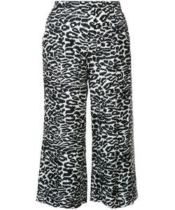 Piamita | Leopard Print Cropped Pants Xs Silk
