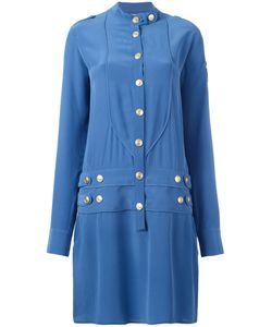 Pierre Balmain | Military Shirt Dress 38 Silk