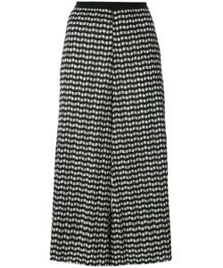 Erika Cavallini | Zig-Zag Cropped Trousers 42 Polyester/Polyamide/Cotton