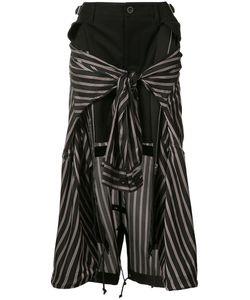Sacai | Striped Shirt Insert Skirt