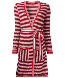 Missoni | Zig-Zag Belted Cardi-Coat 48 Nylon/Viscose/Wool/Cotton