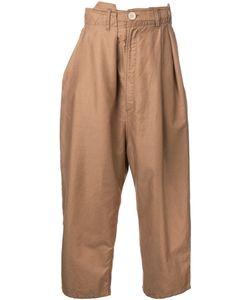 Maison Mihara Yasuhiro | Drop-Crotch Cropped Trousers 44 Cotton/Linen/Flax