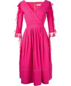 Preen By Thornton Bregazzi | Ruffled Sleeve V-Neck Dress Size Small