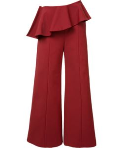 Rosie Assoulin | Pleated Trim Palazzo Pants 4 Cotton/Polyamide/Spandex/Elastane
