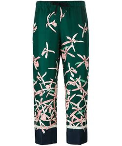 Moncler | Print Trousers 42 Silk