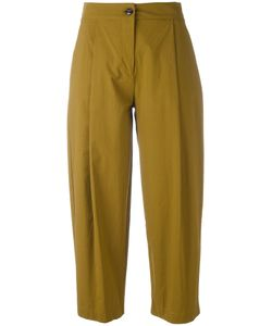 Erika Cavallini | Pleat Detail Cropped Trousers 46 Cotton/Spandex/Elastane