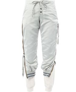 GREG LAUREN | Laye Cropped Trousers 1 Cotton/Linen/Flax/Polyester/Satin