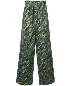 LIAM HODGES   Camouflage High-Waisted Oversized Trousers Men