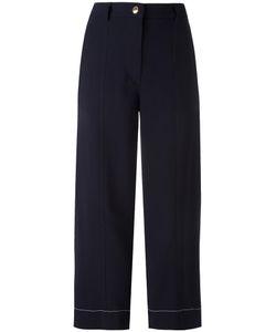 Sonia Rykiel | Wide Leg Cropped Trousers 44 Viscose/Spandex/Elastane
