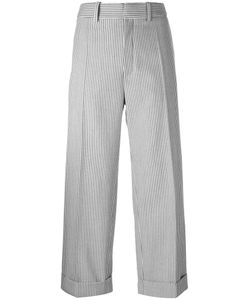 Chloe | Chloé Pinstriped Cropped Trousers 38 Virgin Wool/Spandex/Elastane/Acetate/Cotton