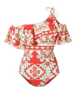 Adriana Degreas | One Shoulder Printed Swimsuit P Polyamide/Spandex/Elastane