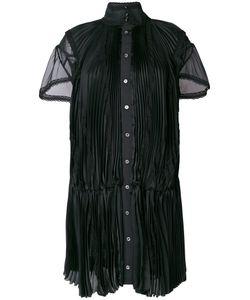 Sacai | Плиссированное Платье С Ажурными Деталями