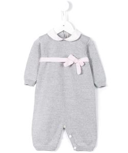 LITTLE BEAR | Ribbon Waistband Knitted Romper Infant 6 Mth