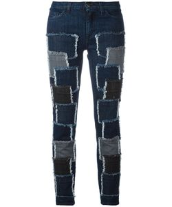 GIAMBA | Patches Stretched Jeans 40 Cotton/Spandex/Elastane