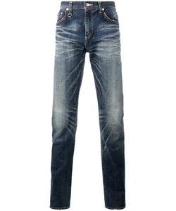 UNIFORM EXPERIMENT | Faded Slim-Fit Jeans 32 Cotton/Polyurethane