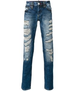 Philipp Plein | Light-Wash Distressed Jeans Size 31