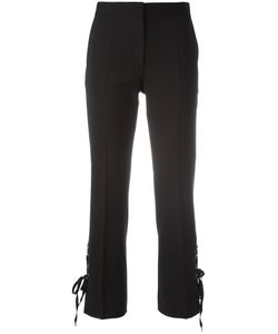 Alberta Ferretti | Lace-Up Side Cropped Trousers 40 Polyester/Virgin