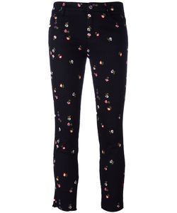 Ermanno Scervino | Embroidery Cropped Trousers 40 Cotton/Elastodiene/Polyester