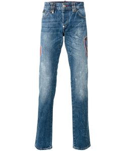 Philipp Plein | Flame Straight-Leg Jeans 30 Cotton
