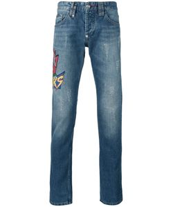 Philipp Plein | Embroidered Patch Jeans Size 32