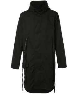 HACULLA | Back Print Hooded Coat Large Cotton