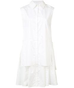 Grey Jason Wu   Pleated Trim Shirt Dress