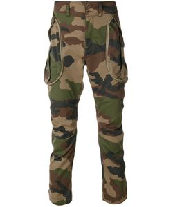 Faith Connexion | Camouflage Biker Cargo Trousers Men