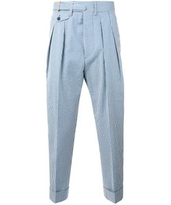 WOOSTER + LARDINI | Striped Cropped Trousers Size 46