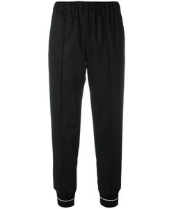 Semicouture | Track Trousers Polyester/Viscose/Polyethylene-Vinyl Acetate Peva