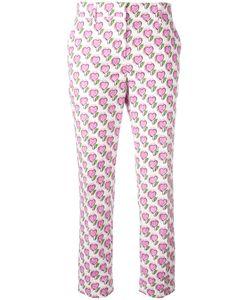 Prada | Heart Print Slim-Fit Trousers Size 38